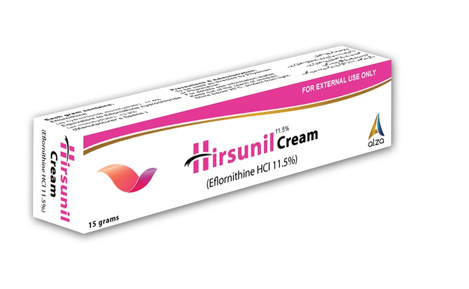 Hirsunil Cream Dermatology Products Alza Pharmaceuticals